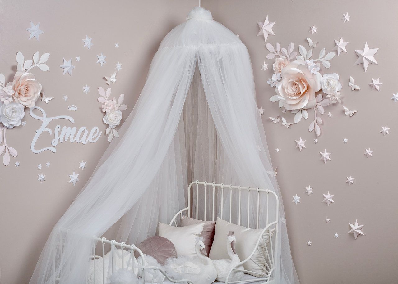 White Bed Canopy Bed Canopy Play Room Canopy Canopy For Nursery Kids Canopy Tent Canopy Canopy For Bedroom White Canopy Tulle Canopy Kids Canopy White Bed Canopy Tulle Canopy
