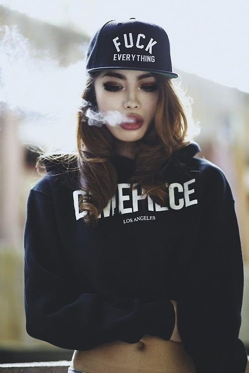 girl, smoke, and swag image