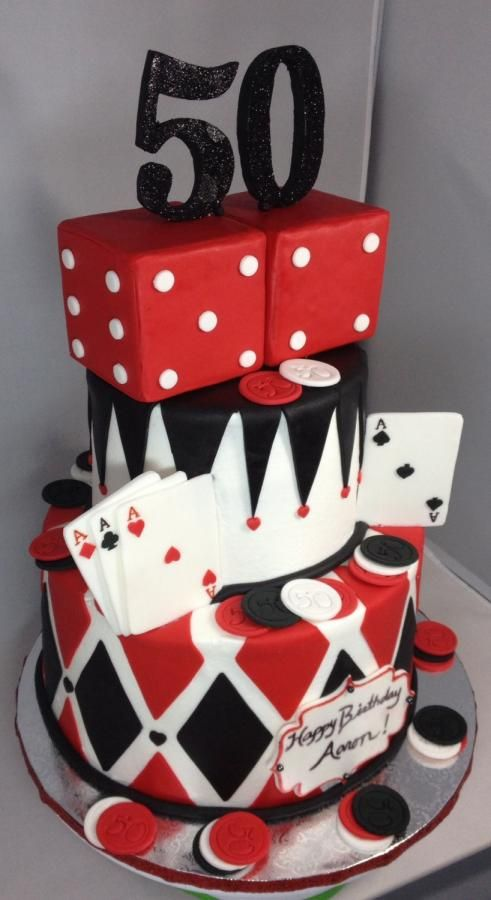 Amazing Casino 50Th Birthday Cake Cake By Cakes By Maray Casino Cakes Funny Birthday Cards Online Barepcheapnameinfo