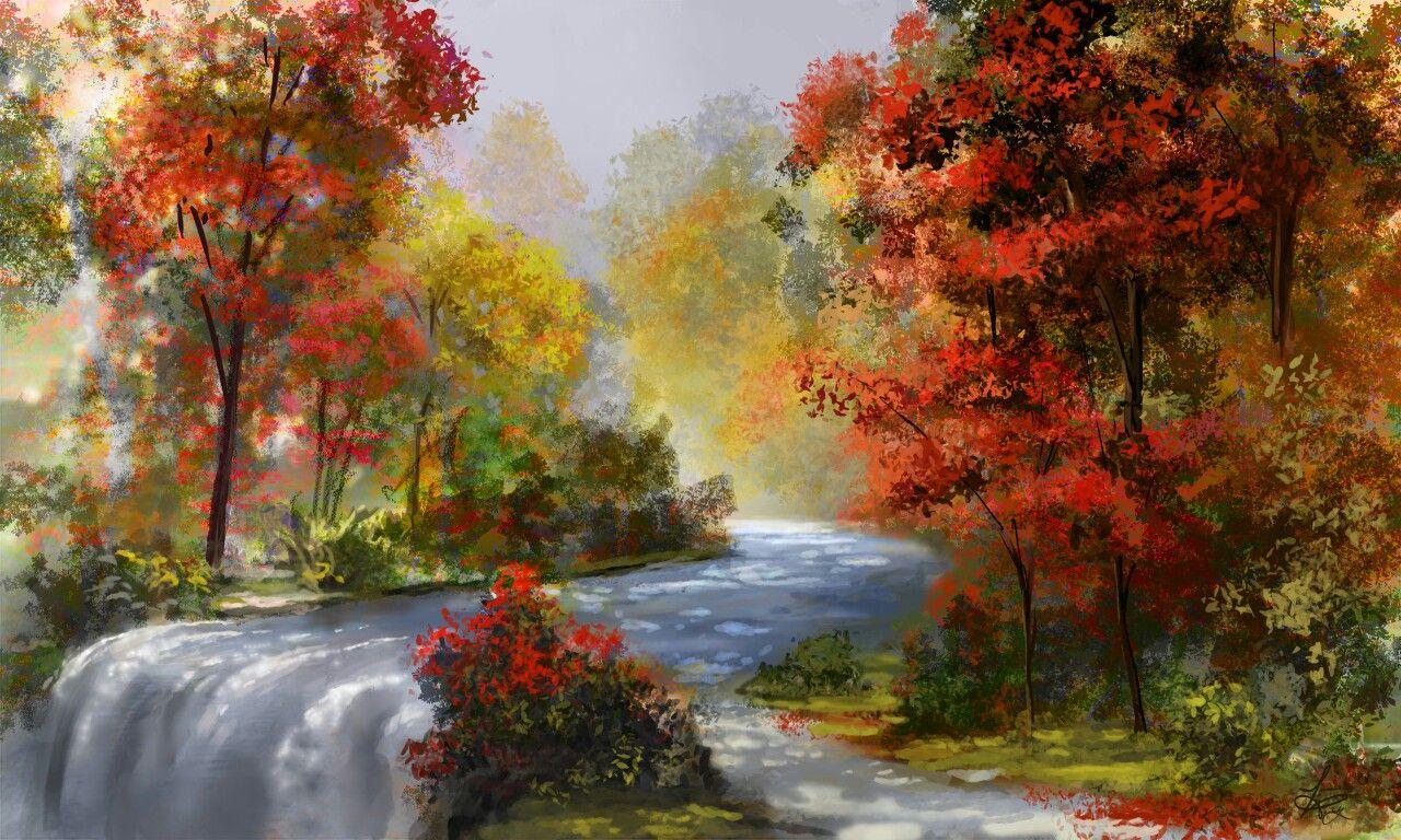 Рисуем осень красивые картинки
