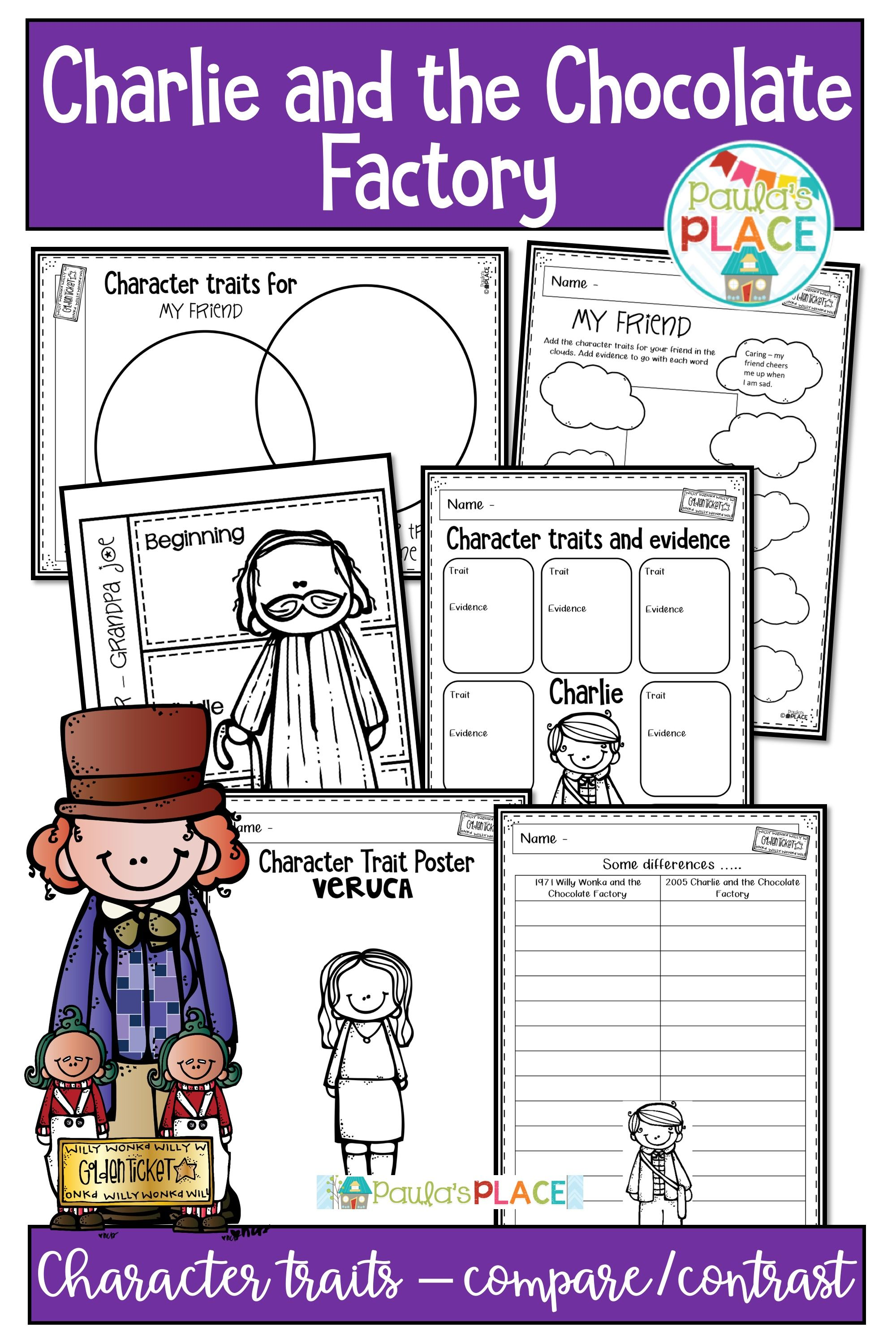 These Charlie And The Chocolate Factory Character Traits And Compare And Contrast Tasks Are Pe Chocolate Factory Teaching Character Teaching Character Traits [ 3000 x 2000 Pixel ]