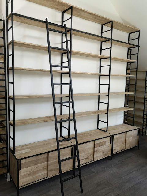 Blog De La Maison De L Imaginarium L Ambiance Factory 100 Sur Mesure Bibliotheque Style Industriel Decoration Interieure Mobilier De Salon