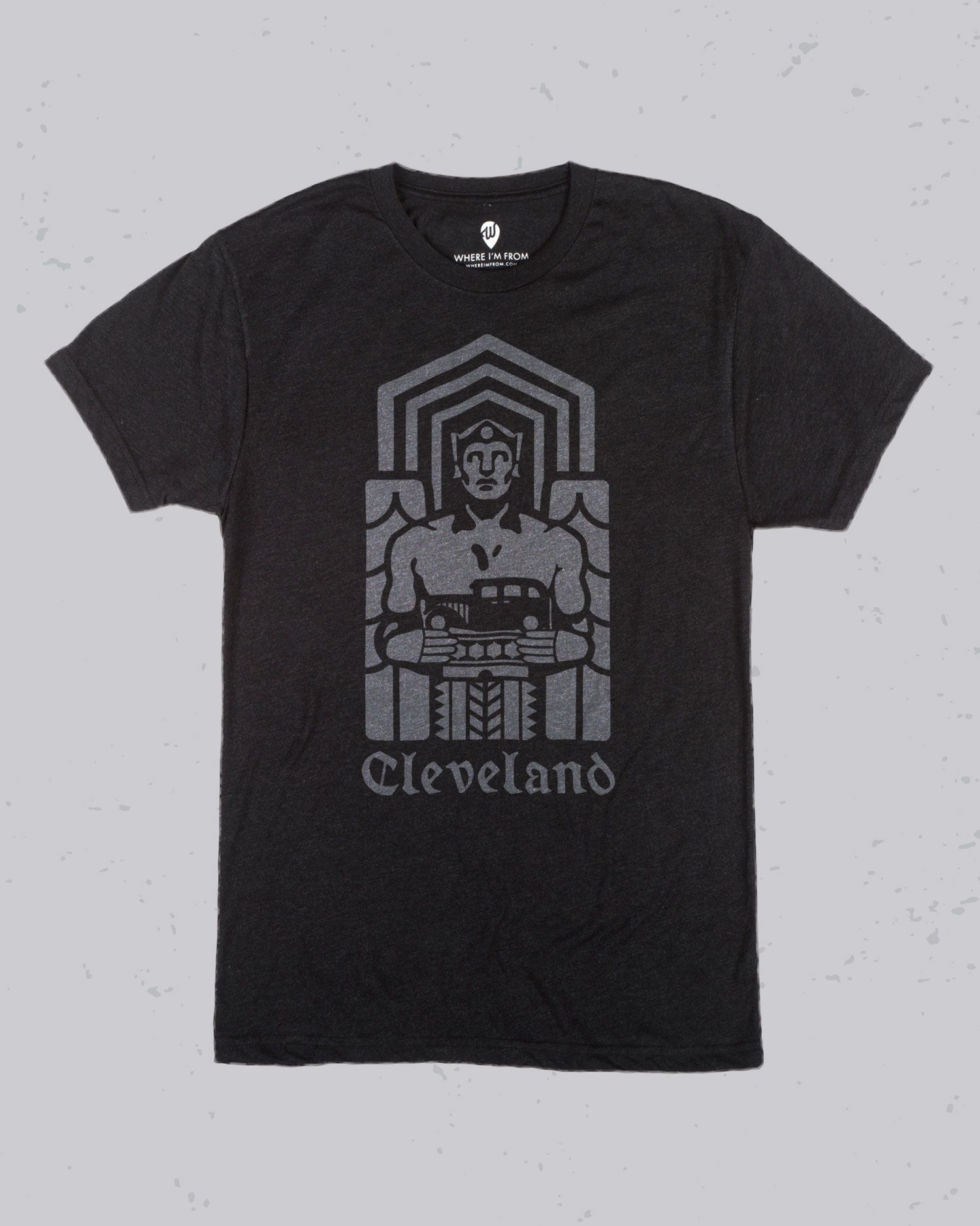 Cleveland Guardian Where I M From Cleveland Bridge Tattoo Mens Tops