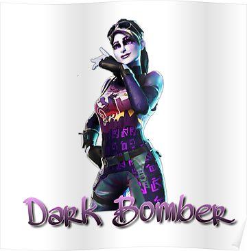 Dark Bomber Skin Fortnite Poster