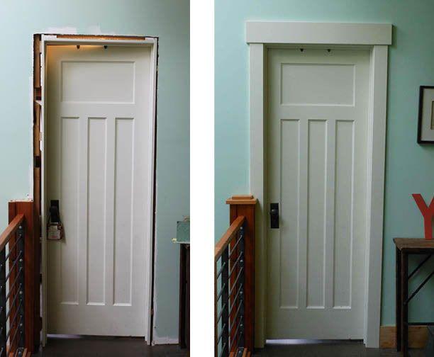 1x4s On Sides And 1x6 On Top Craftsman Door Craftsman Style Doors Interior Door Trim