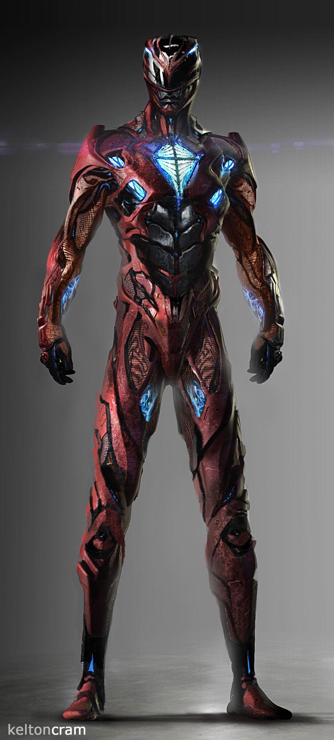 Artstation power rangers alien suit kelton cram cg