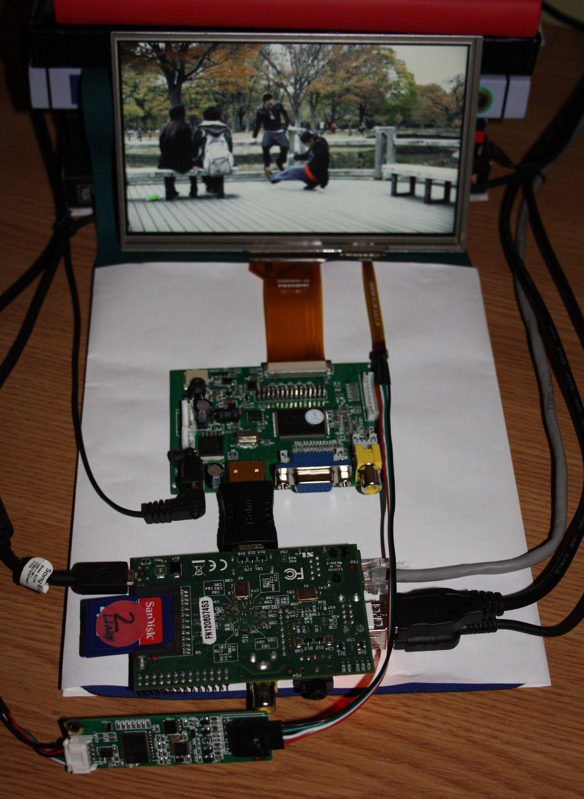 Raspberry PI, Raspbian, XBMC and eGalax 7 inch touchscreen