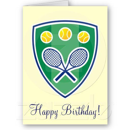 Elegant tennis birthday greeting card birthday greeting cards elegant tennis birthday greeting card m4hsunfo