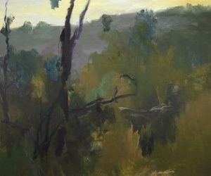 Dawn Scrub  122 x 153cm david collins