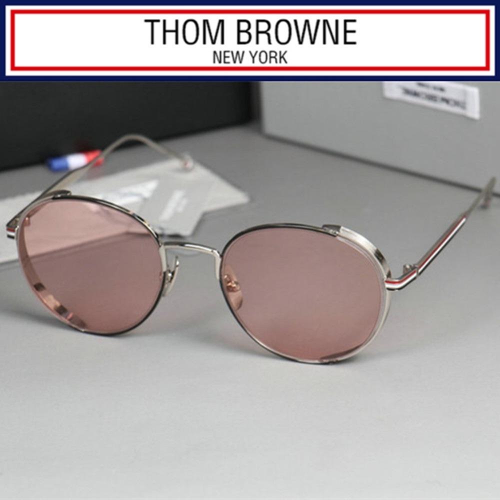 59.40$  Buy here - http://alihnd.worldwells.pw/go.php?t=32622019194 - NEW Alloy Thom Browne sunglasses UVA/UVB protection&decoration Unisex Fashion eyewear sun glasses &original case 59.40$