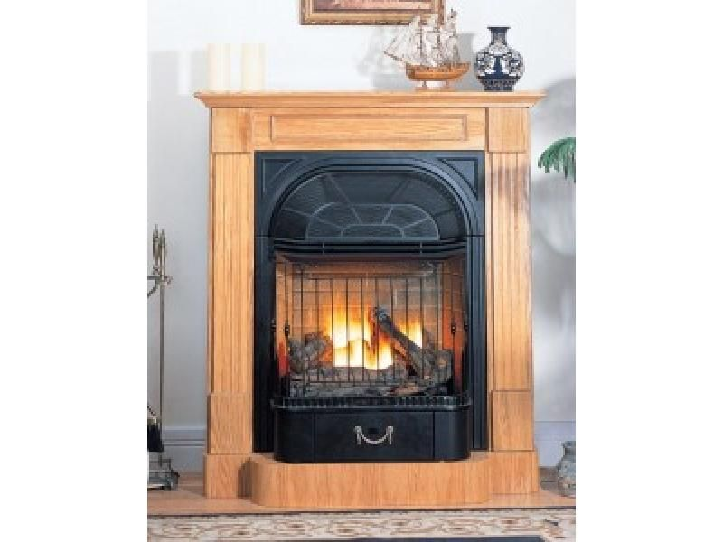Nice Buckingham Oak Ventless Gas Fireplace U0026 Blower In NG Only