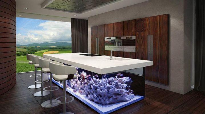 Un Aquarium géant dans votre cuisine | Kitchen | Aquarium ...