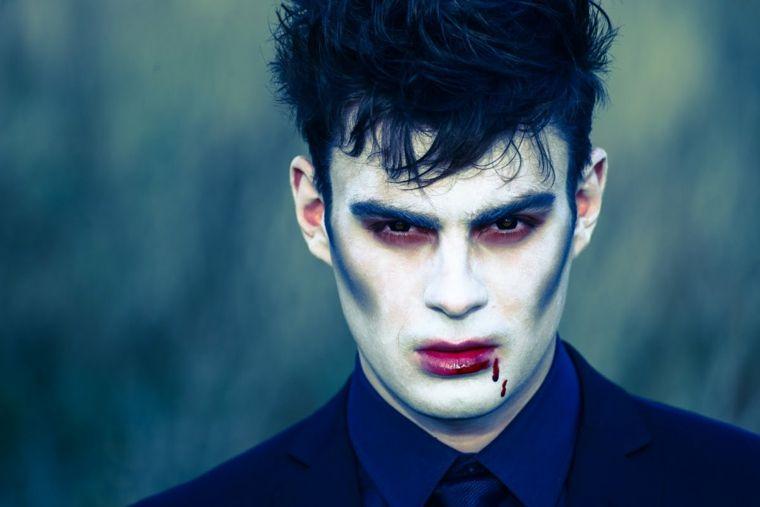 Maquillaje para hombre y mujer para Halloween Maquillaje de diablo
