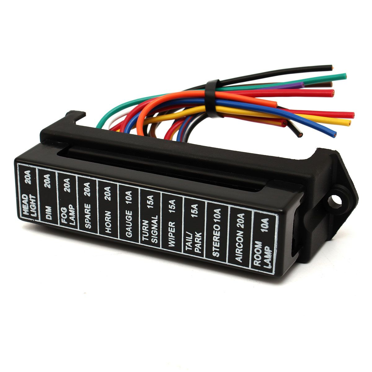 32v 12 Way Circuit Car Boat Automotive Blade Fuse Box Block Holder