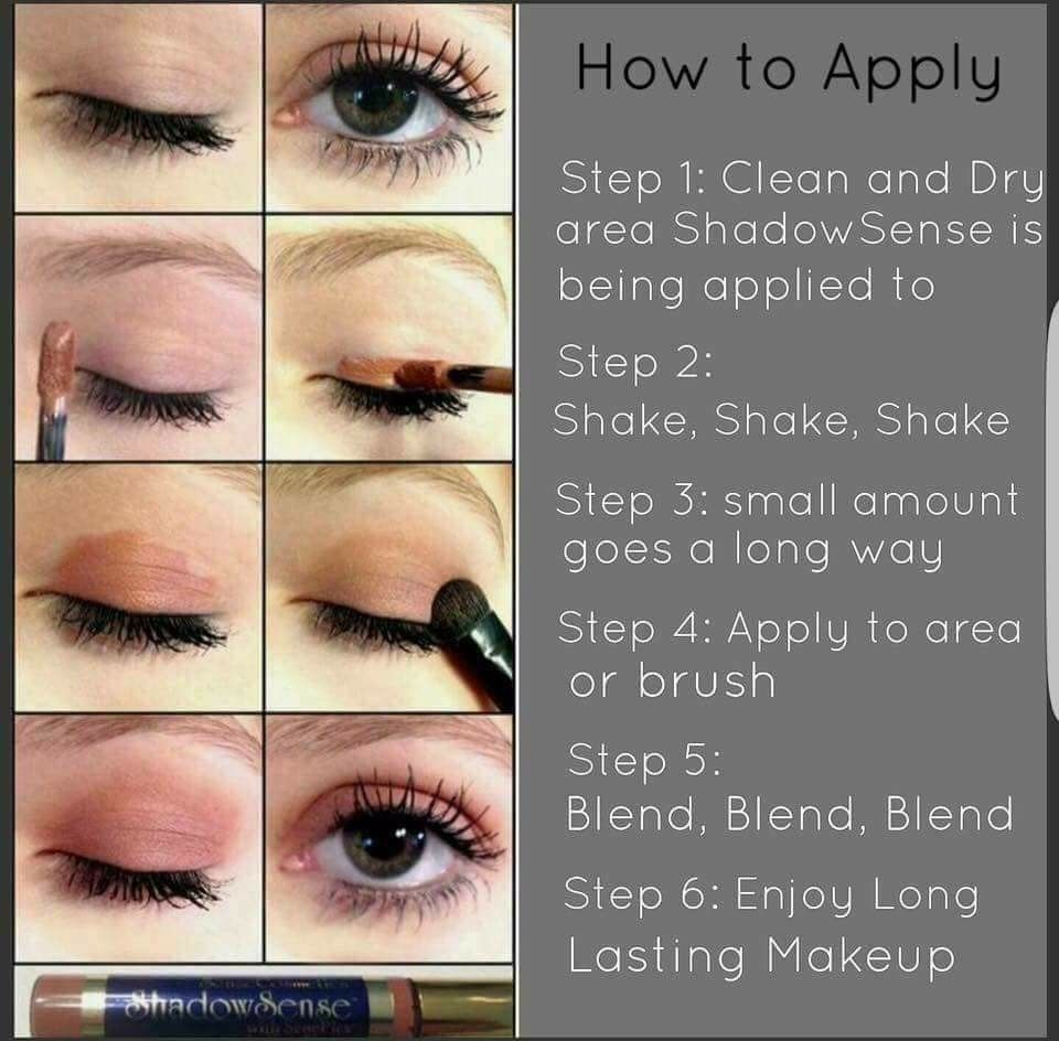 Image result for how to apply shadowsense eyeshadow ...