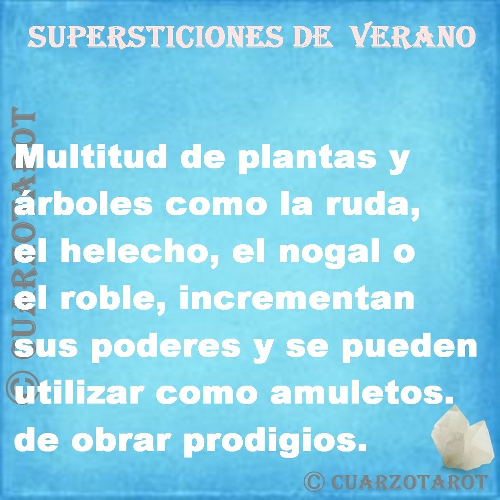 SUPERSTICIONES DE VERANO Https://www.cuarzotarot.es/
