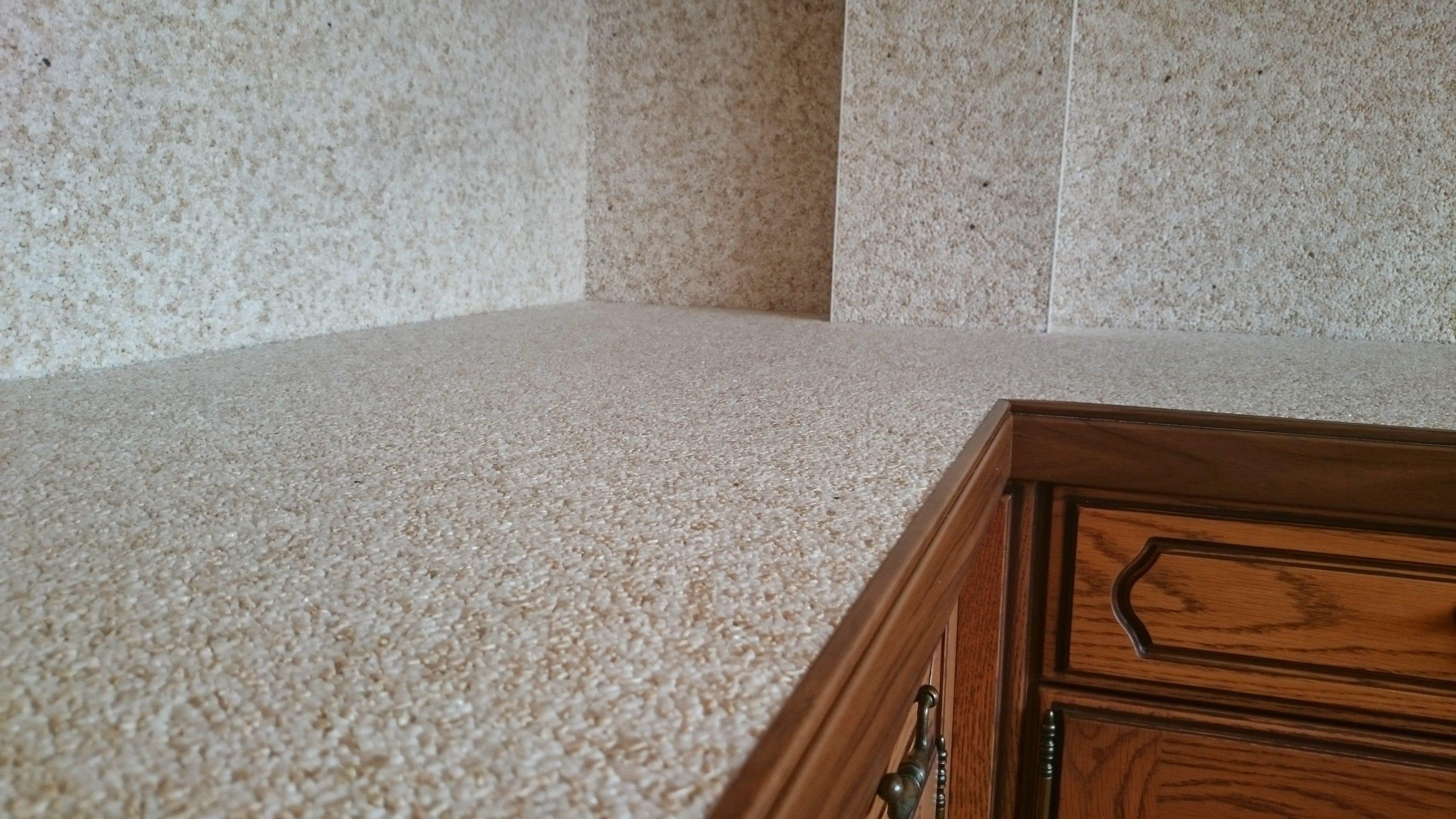 Küchen Arbeitsplatten Sanierung mit Marmorkies Steinteppich und ...