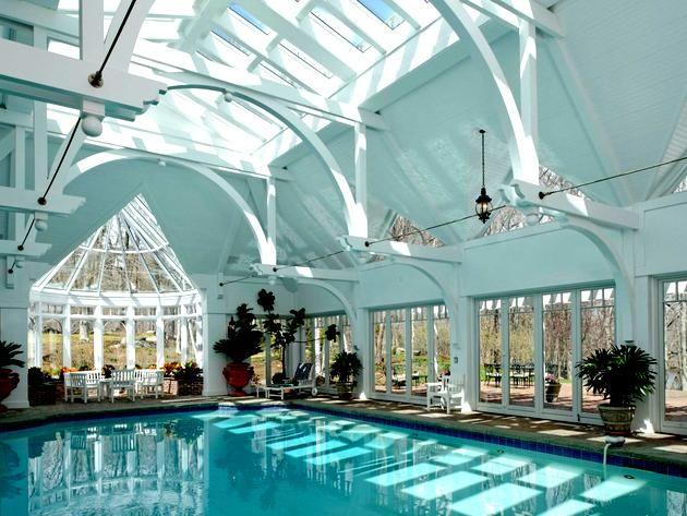 #RonHoward's Estate in Greenwich, Connecticut: Indoor Pool >> http://www.frontdoor.com/photos/the-greenwich-ct-estate-of-ron-howard?soc=pinterest