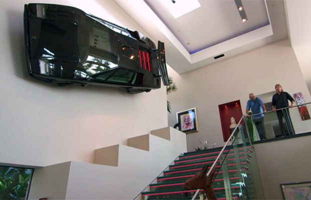 This Millionaire Hung a Lamborghini Countach on His Wall in His House Just Because