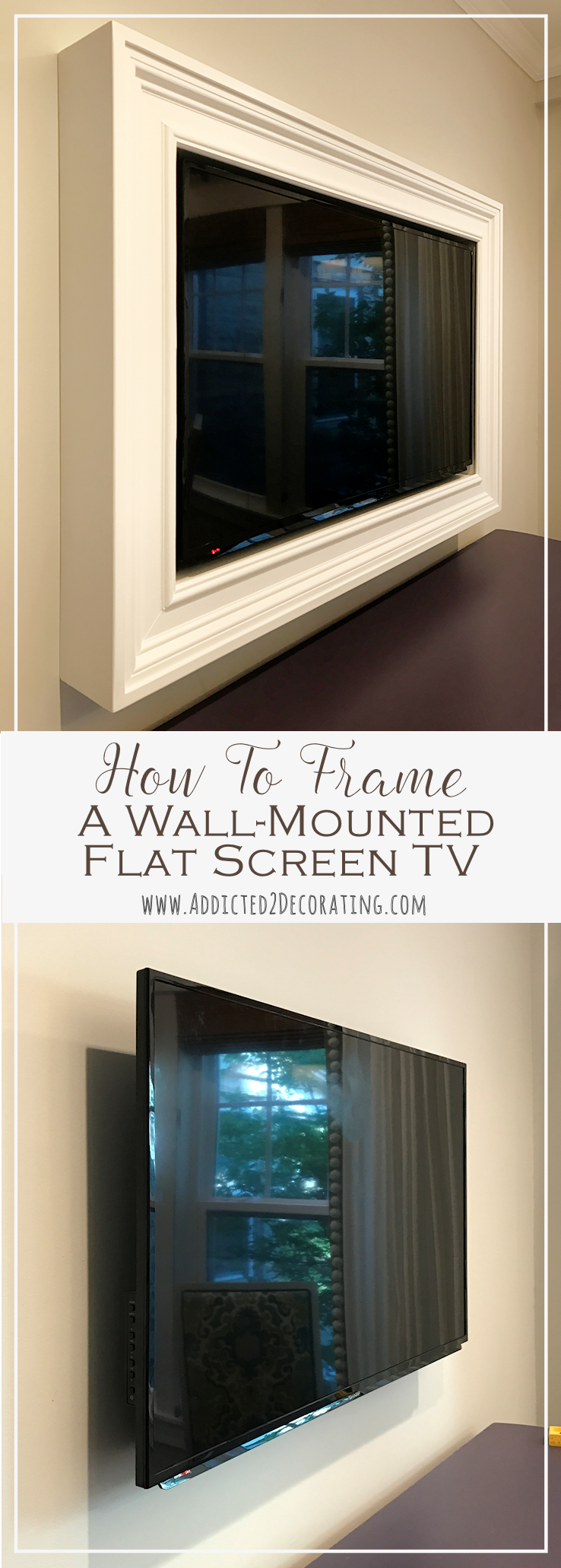 Custom Diy Frame For Wall Mounted Tv Finished Bloggers Best Diy