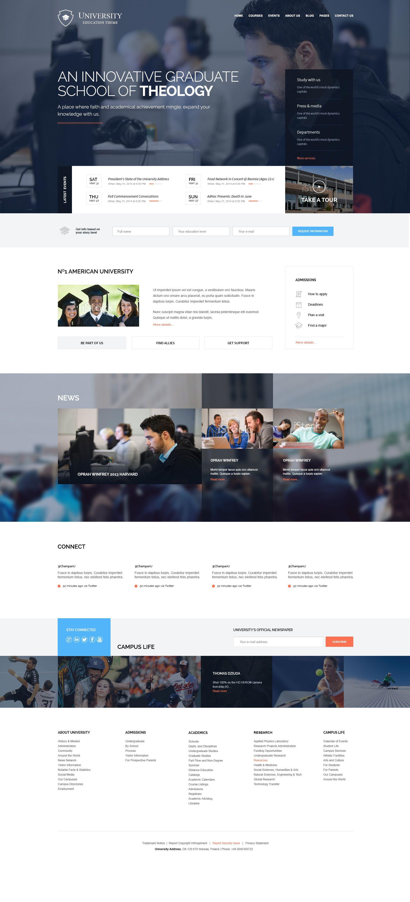 Https Dribbble Com Shots 1572184 University Theme Attachments 241763 Education Wordpress Themes Web Layout Design Website Design Services