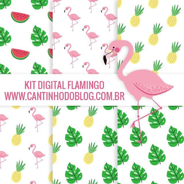 Kit Digital Flamingo Gratis Para Baixar Papel Digital Gratis