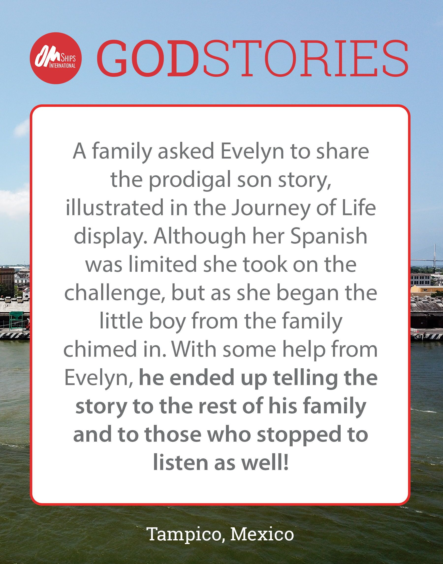 This is one crew member's God Story from their time serving on board the  Logos Hope. Visit