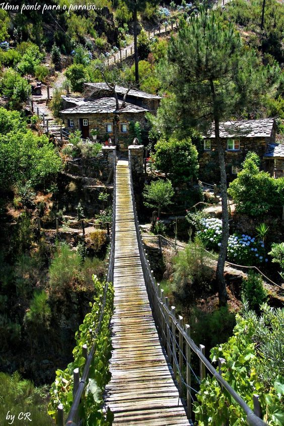 The village of Foz d'Égua, Portugal