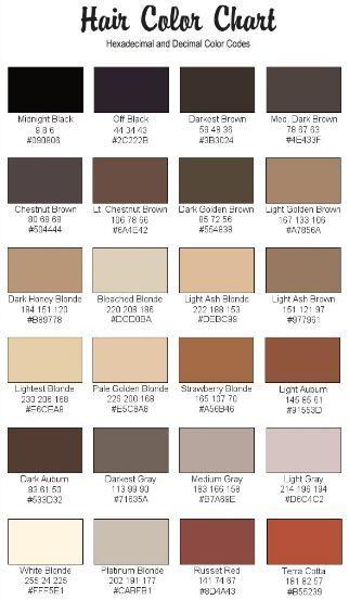 Jilliene Designing Rgb Codes For Hair And Skin Tonos De Piel Paleta De Colores Web Códigos De Color Rgb