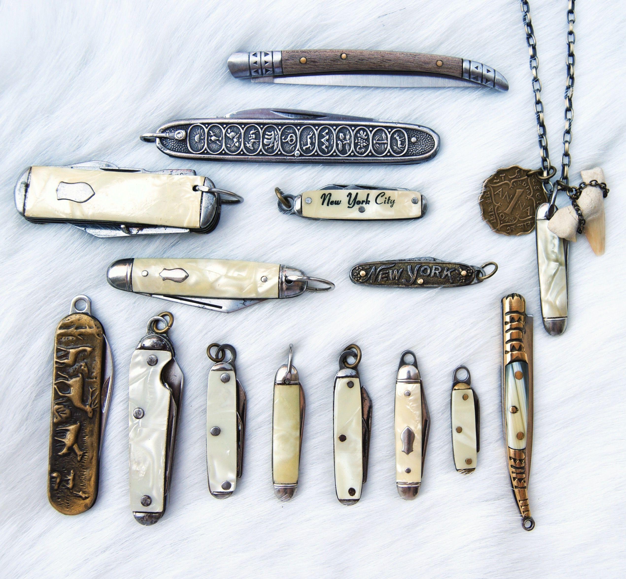 Vintage Mini Pocket Knife Pendant