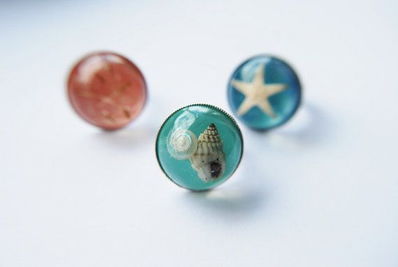 Statement Beach Ring Turquoise Silver Pearl by NaturalPrettyThings, $23.00