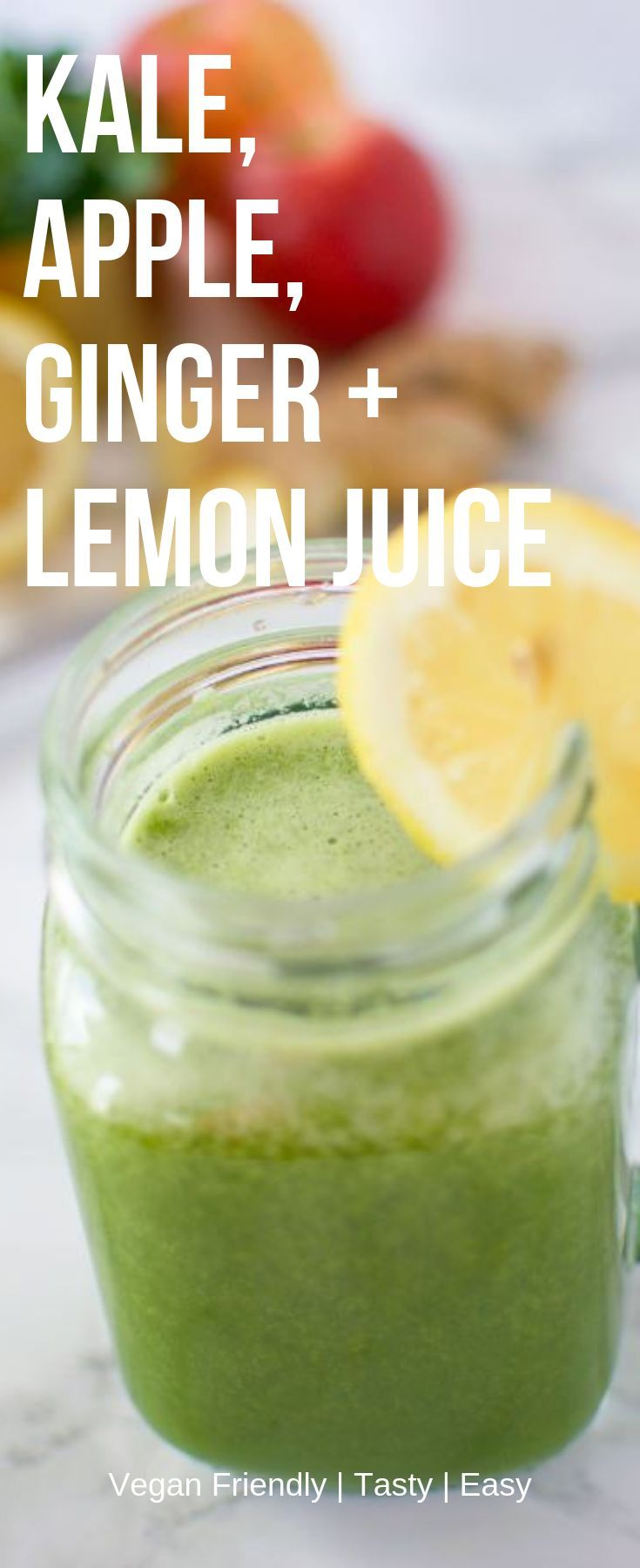 Sweet Kale, Apple, Ginger+Lemon Juice | I Can You Can Vegan Kale Juice Looking for a new juicing co