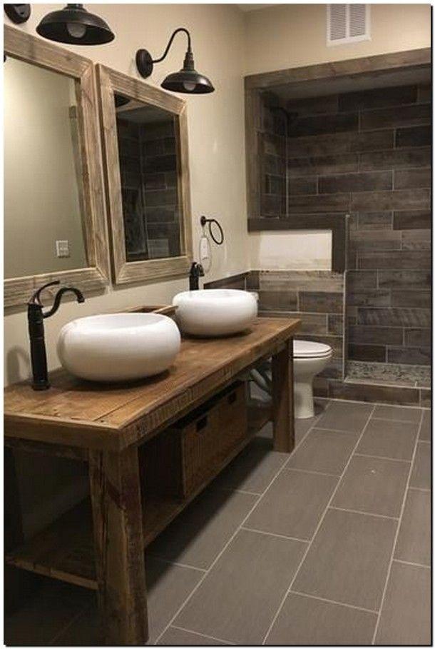 35 Awesome Rustic Bathroom Decor Design Ideas Express Your Cozy Feeling Restroom Decor Bathroom Design Decor Bathroom Decor