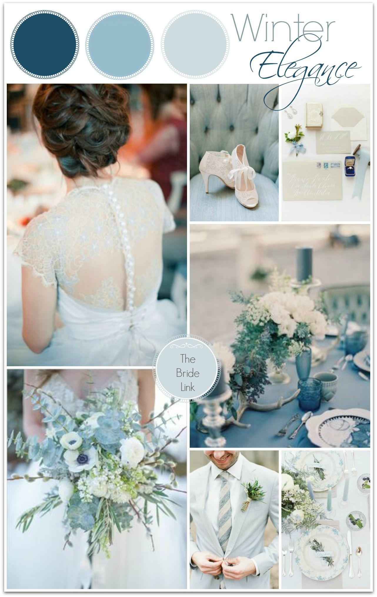 Blue Winter Wedding Color Ideas