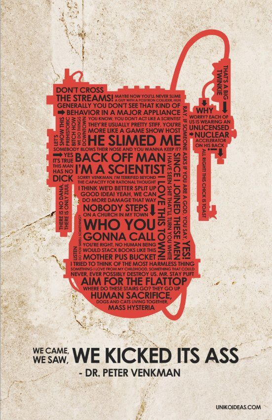 Proton Pack Of Quotes Ghostbusters Quotes Ghostbusters Quote Posters