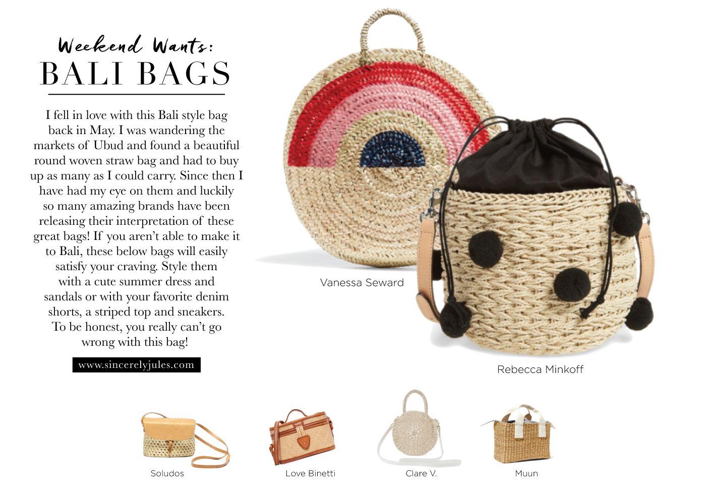 Bali Bags – Sincerely Jules   Bags, Straw bag, Bali fashion