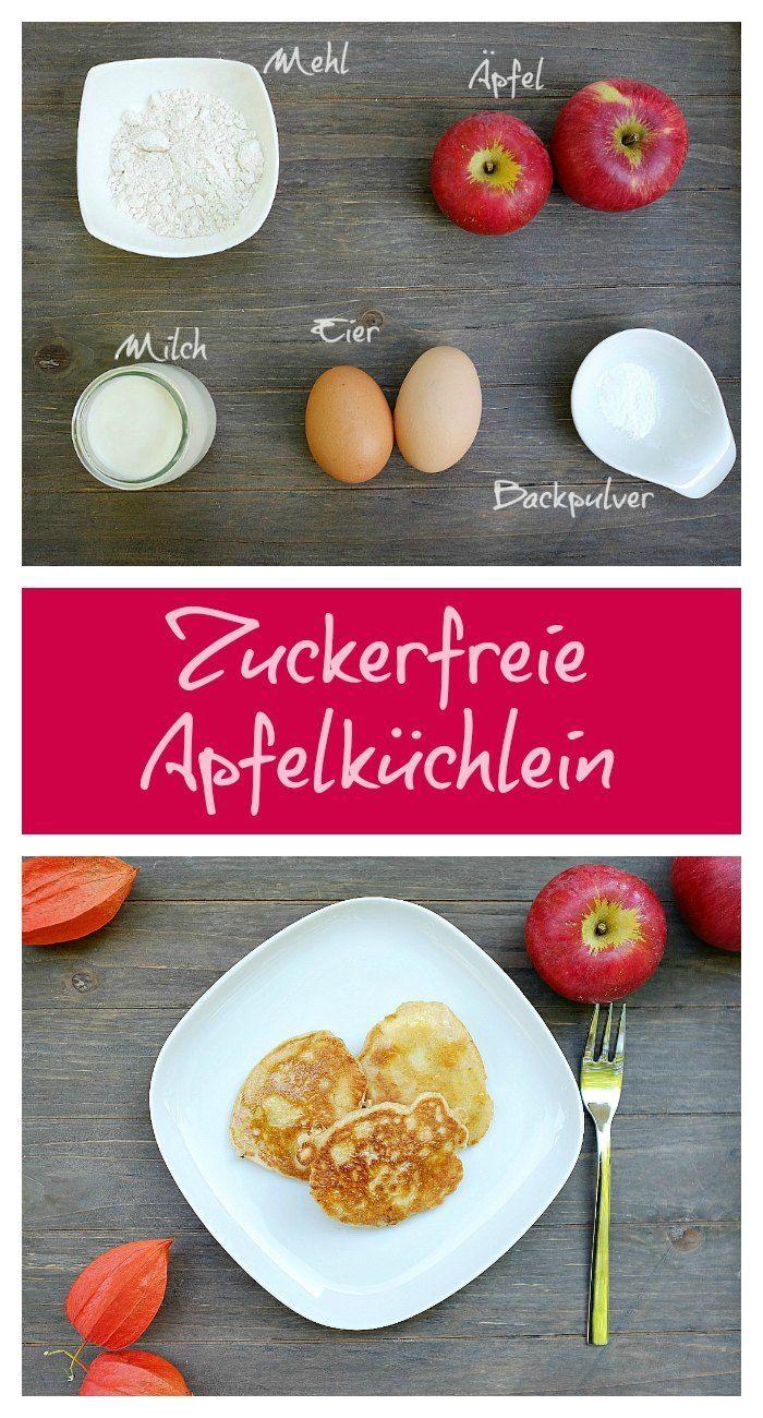 Zuckerfreie Apfelküchlein - Schnelle & einfache Rezepte