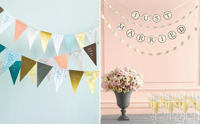Ever After Avenue Wedding Ideas Diy Flag Banners