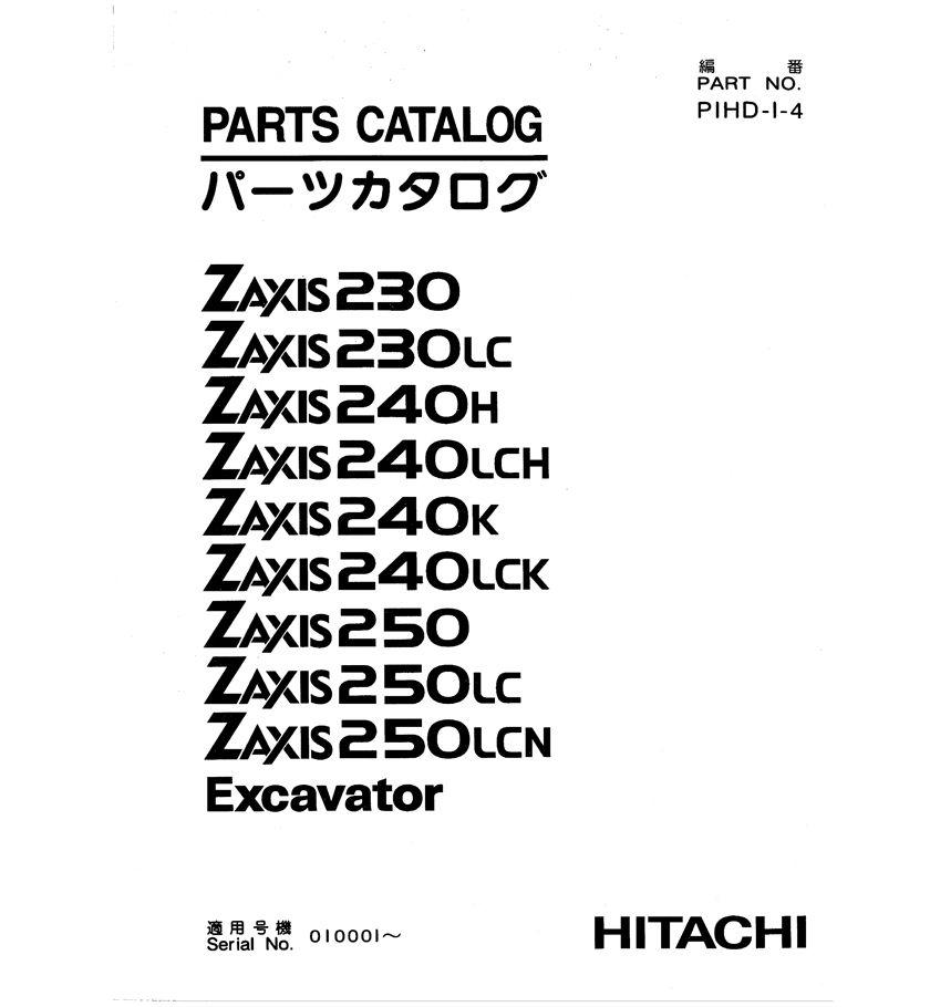 Hitachi Excavator Parts List ~ Excavator