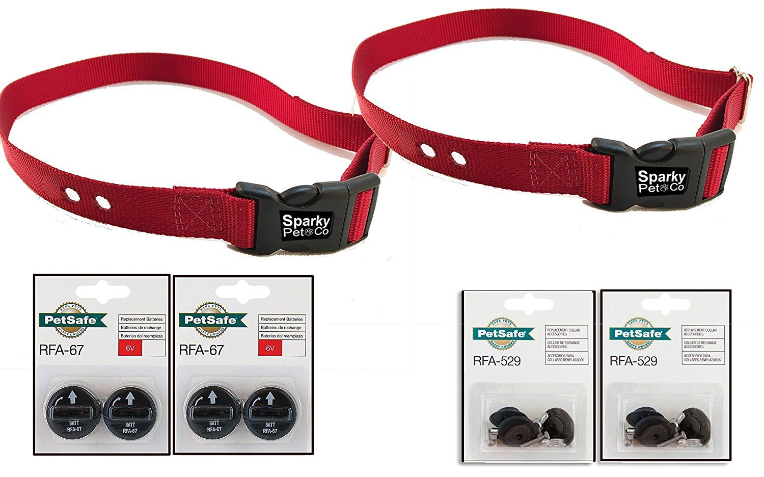Sparky Petco Petsafe Compatible Replacement 2 1 Heavy Duty Dog Straps With 2 Rfa 529 Kits And 4 Rfa 67 D 11 Ba Dog Training Pads Petco Dog Training Collar