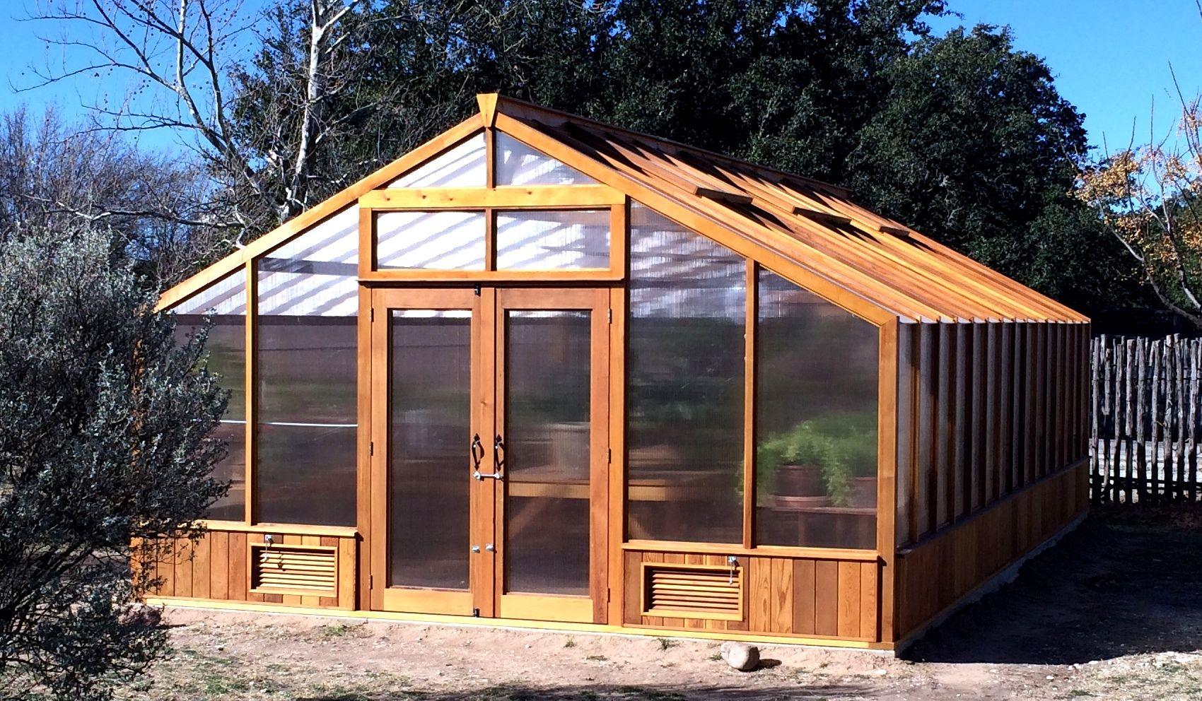 Cedar Lean To Greenhouse Kits