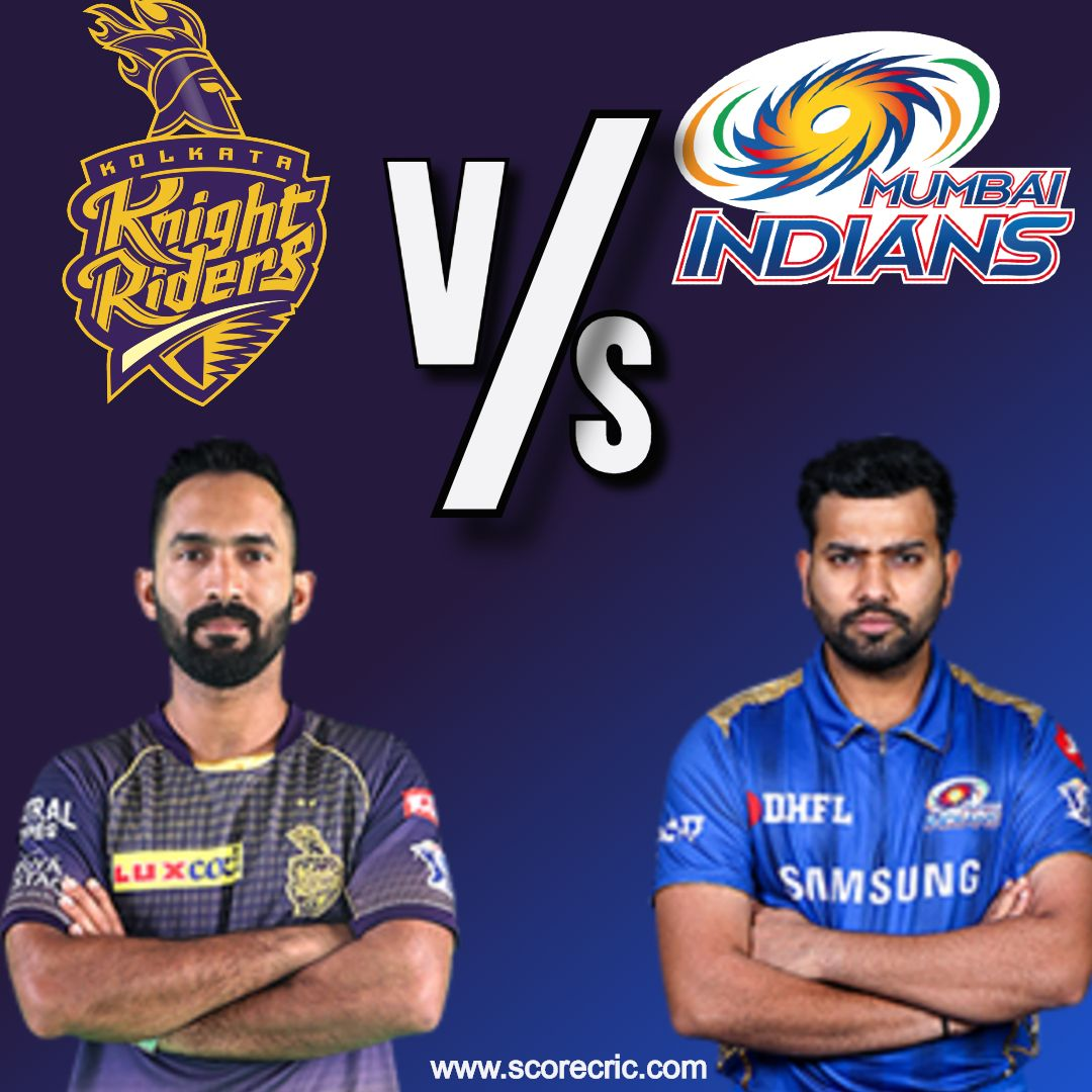 Today in IPL2020 : Kolkata Night Riders vs Mumbai Indians
