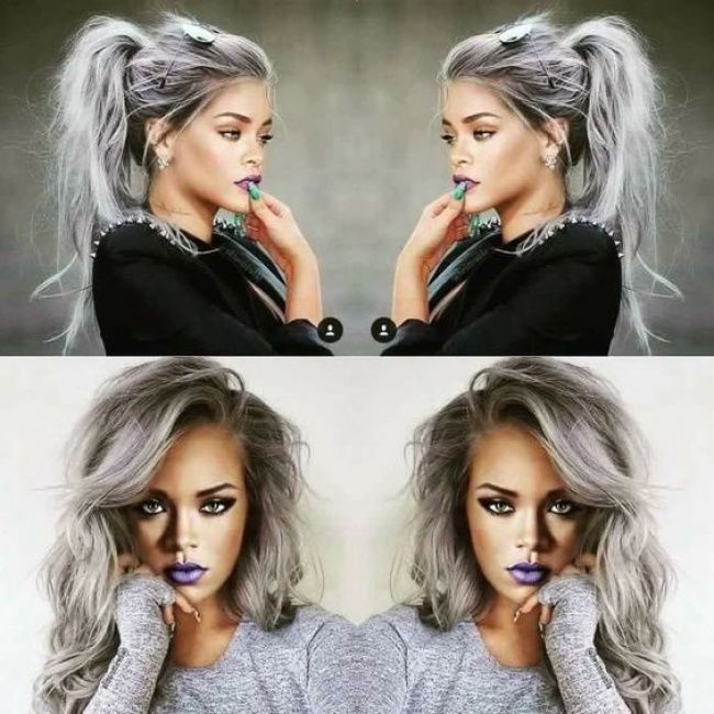 tuto cheveux gris