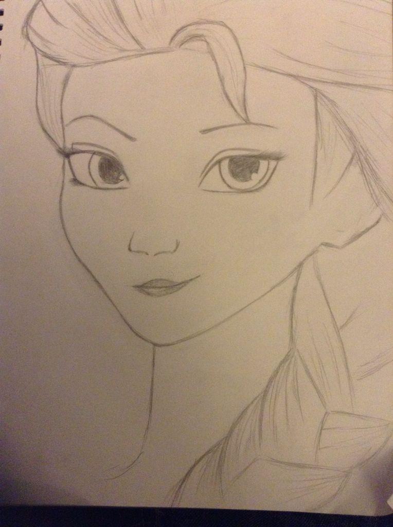I drew elsa....DONT JUDGE ME, I WILL NEVER LET IT GO!!!!!! (Yami morn)