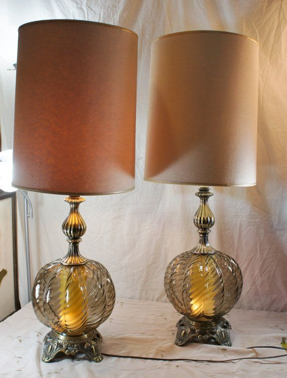 Your Place To Buy And Sell All Things Handmade Large Table Lamps Smoked Glass Glass Table Lamp