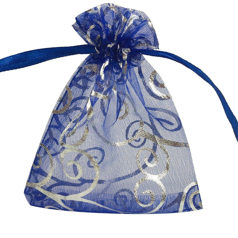 Yijue 100pcs 3x4 Inches Drawstrings Organza Gift Candy Bags Wedding