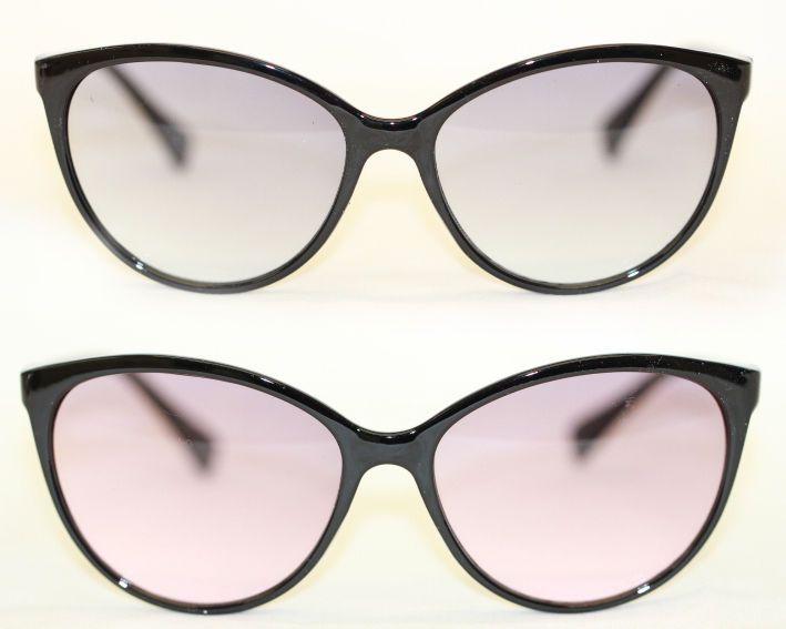 Cateye Sonnenbrille 50er Jahre filigran Übergroß leicht getönt schwarz 588 UFjYKjW3Fl