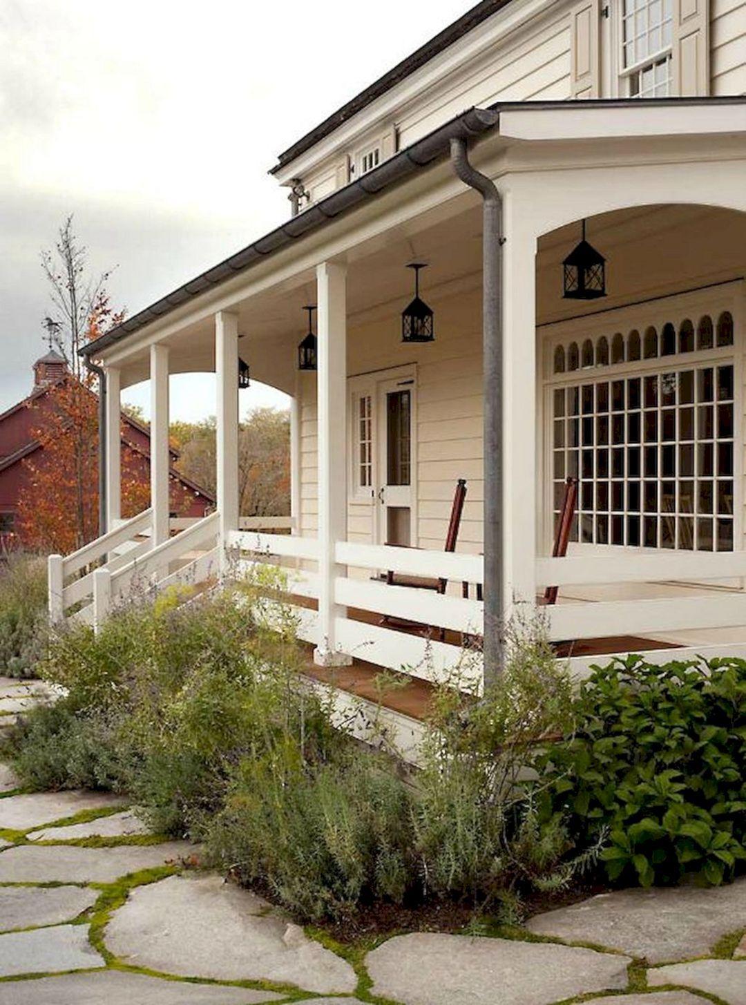Century New England Farmhouse Porch John B Murray