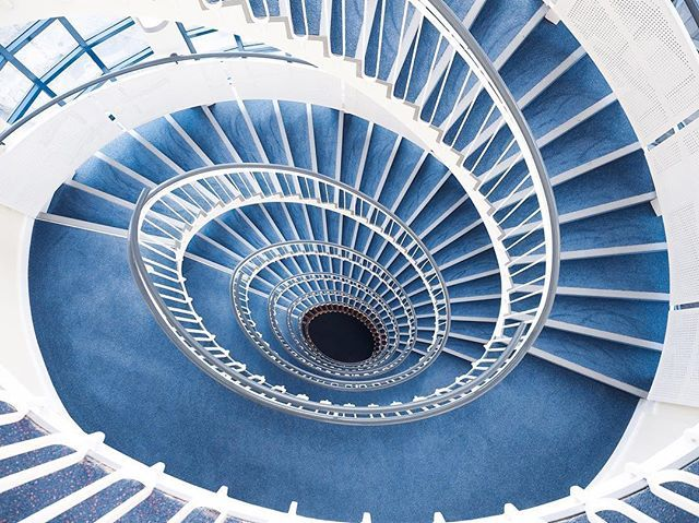Blue   #whppostcard #theworldneedsmorespiralstaircases #mindtheminimal #minimalmood #rsa_minimal #ig_minimalshots #mnml #olympusinspired #stairsandsteps #shutup_lond