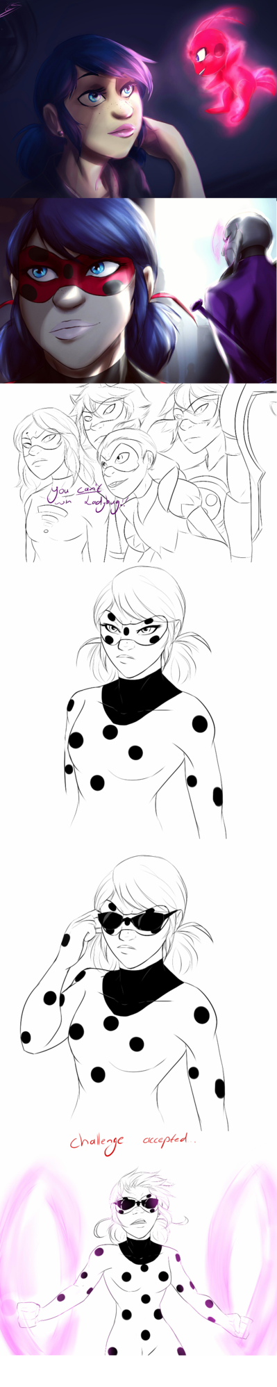 I can imagine Ladybug having troubles with the idea of another Volpina and who better to help with that than Alya?